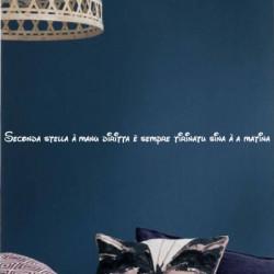 Texte Corse Seconda stella à manu diritta è sempre tirinatu sina à a matin