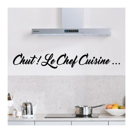 Sticker texte Chut! Le Chef Cuisine