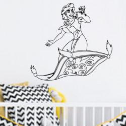 Sticker Aladdin sur tapis