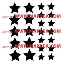 Sticker lot 24 étoiles