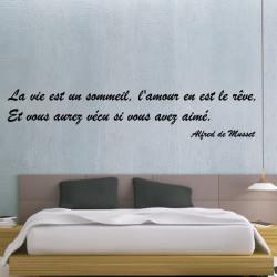 Sticker citation Alfred de Musset - La vie est un sommeil