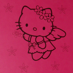 Sticker Hello Kitty Fleurs