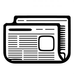 Sticker icône Journaux