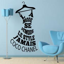 Sticker Citation Coco Chanel