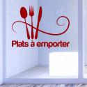 Sticker Vitrine Restaurant Plats à emporter