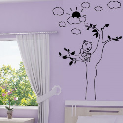 Stickers Ourson dans un arbre