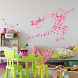 Sticker Miraculous - Ladybug et lettrage
