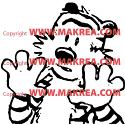Sticker Calvin and Hobbes