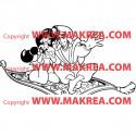 Sticker Aladdin et Jasmine sur tapis