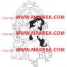Sticker Aladdin - Jasmine et la coiffeuse