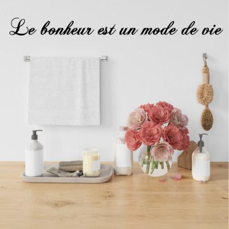 Sticker Texte : Le bonheur est un mode de vie