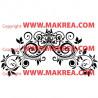 Sticker Tête de lit Ornements Floral