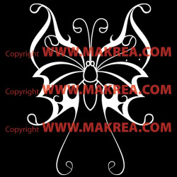 Sticker Papillon Design 2