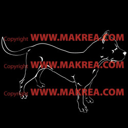 Sticker Chien American Stafford