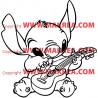 Sticker Stitch joue de la guitare