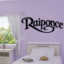 Sticker Texte Raiponce Wall Disney