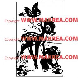 Sticker Bambi et Pampan