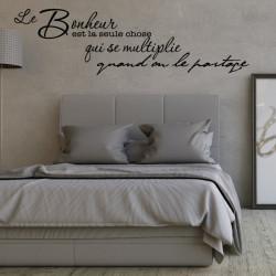 Sticker texte Le Bonheur est la seule chose qui se multiplie