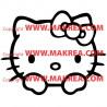 Sticker Tête Hello Kitty