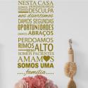 Sticker texte Espagnol : Nesta Casa ...Familia