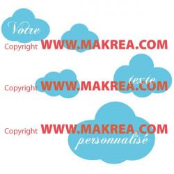 Stickers Nuages avec votre texte personnalisé