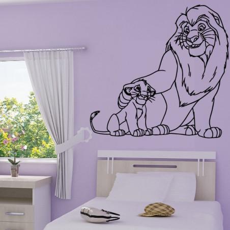 Roi Lion Simba et son père Mufasa