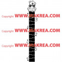 Sticker Règle de croissance Ourson