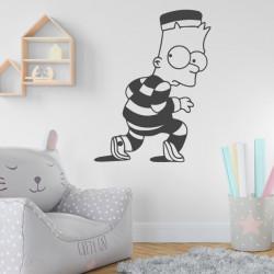Sticker Bart Simpson Tenue Prisonnier