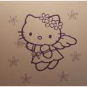 Sticker Hello Kitty Fleurs