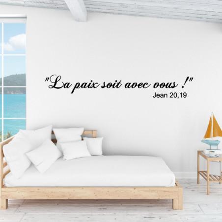 Sticker verset évangélique - La paix soit avec vous Jean 20,19