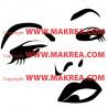 Sticker Silhouette Visage Femme