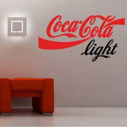 Sticker Logo Coca-Cola Light