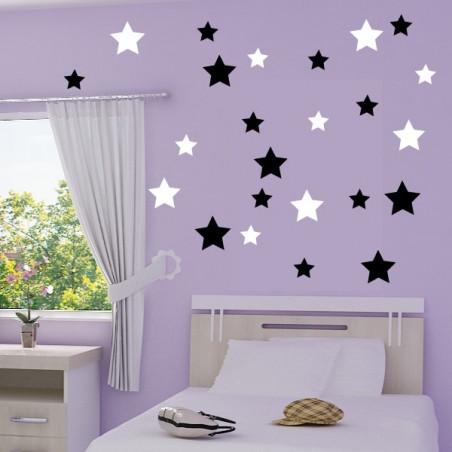 lot 24 étoiles 2 couleurs au choix