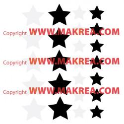 Sticker lot 24 étoiles 2 couleurs au choix