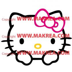Sticker Tête Hello Kitty Couleur
