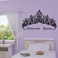 Sticker Couronne de Princesse + prénom personnalisable