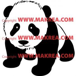 Sticker bébé panda