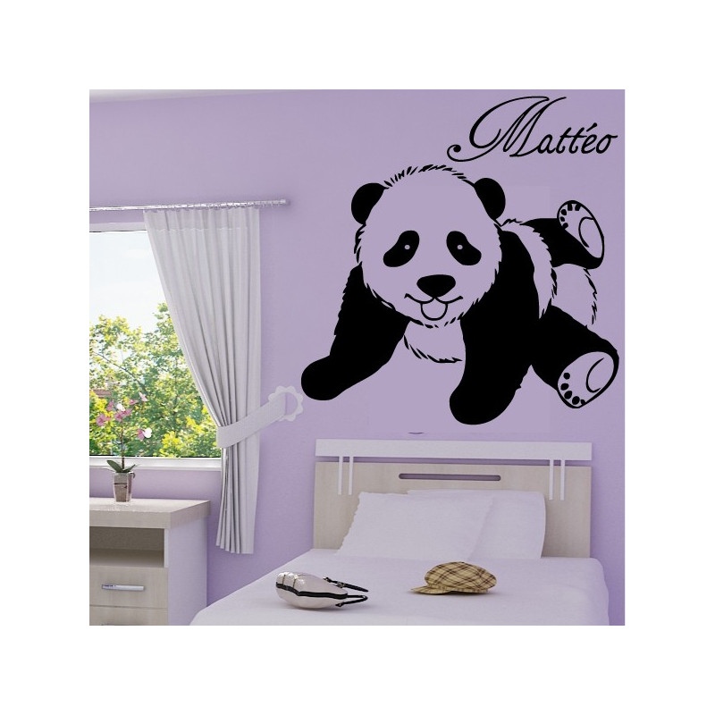 Sticker bébé panda allongé