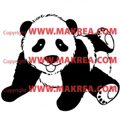 Sticker bébé panda allongé
