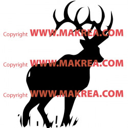 Sticker Cerf 2