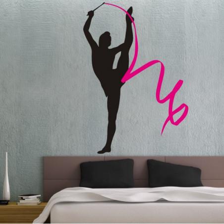 Gymnastique Rythmique Ruban 2 couleurs