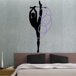Gymnastique Rythmique jambe en l'air Ruban 2 Couleur
