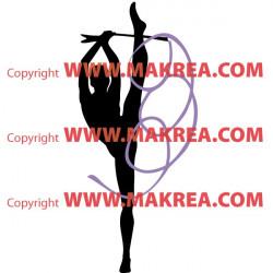 Sticker Gymnastique Rythmique Ruban Couleur