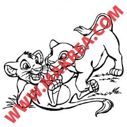 Sticker Roi Lion - Simba et Nala