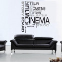Sticker Lettrage Cinema