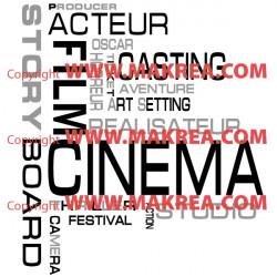 Sticker Lettrage Cinema