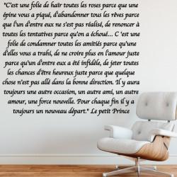 Sticker Extrait le Petit Prince
