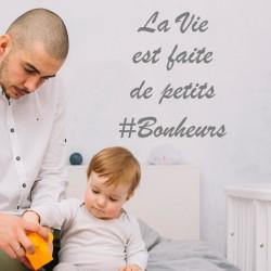 Sticker Citation : La vie est faite de petits #Bonheurs