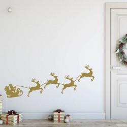 Sticker Père Noël traîneau