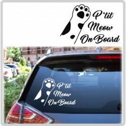 Sticker Bébé à Bord - Patte de Meow